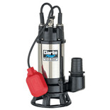 "Clarke HSEC650A 2"" 665W 290Lpm 6.5m Head Industrial Submersible Dirty Water Cutter Pump with Float Switch (230V)"