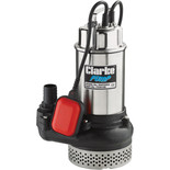 "Clarke DWP200A 2"" 1500W 600Lpm 10m Head Submersible Dirty Water Pump With Float Switch (230V)"