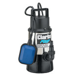 "Clarke PSD1A 1¼"" 800W 91Lpm 30m Submersible Head Stainless Steel Clean Water Pump with Float Switch (230V)"