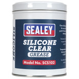 Sealey SCS102 500g Clear Silicone Grease