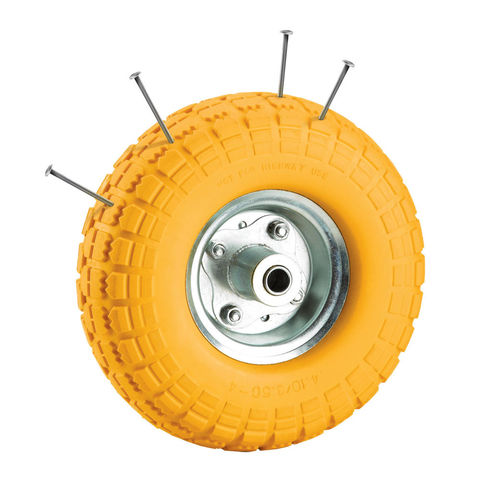 Image of Clarke Clarke PF265 Yellow Tyred Wheel