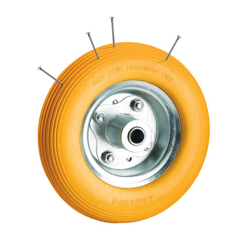 Image of Clarke Clarke PF395 Puncture Proof Yellow Tyred Wheel 395mm