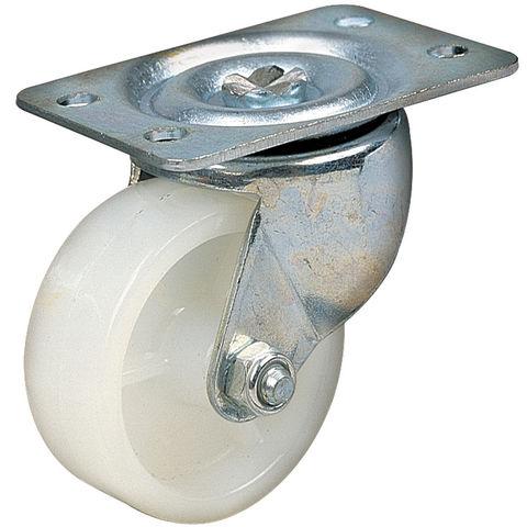 Image of Clarke ML126SW 50mm Swivel Castor - White Nylon