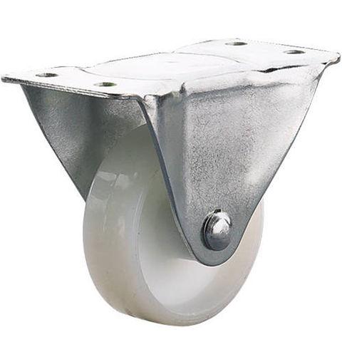 Image of Clarke ML486RW 100mm Fixed Castor - White Nylon