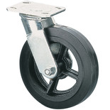 ML601S 150mm Heavy Duty Swivel Castor - Rubber