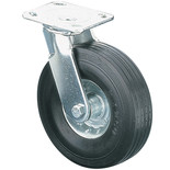 ML819S 200mm Heavy Duty Swivel Castor - Rubber