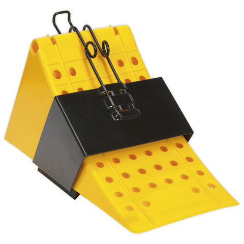 Image of Sealey Sealey CV127 Wheel Chock with Bracket Single - Commercial