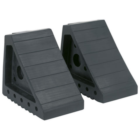 Image of Sealey Sealey Rubber Wheel Chocks 1.8kg - Pair