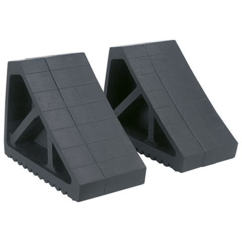 Image of Sealey Sealey Rubber Wheel Chocks 3.3kg - Pair