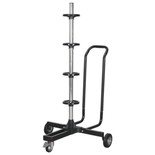 Sealey STR005 Wheel Storage Trolley 100kg Capacity with Handle