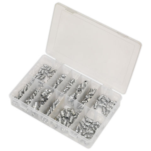 Image of Sealey Sealey AB009GN 130 Piece Metric, BSP & UNF Grease Nipple Assortment