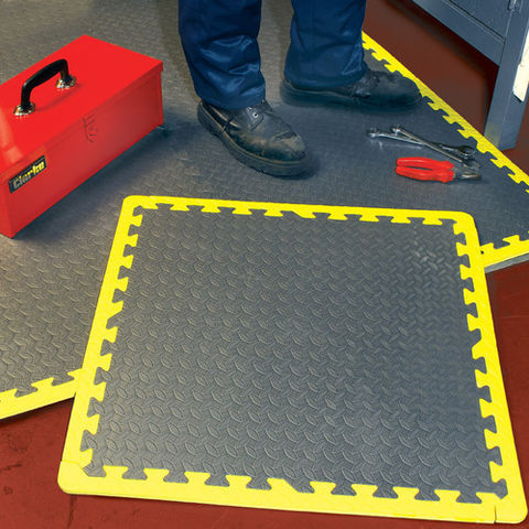 Image of Clarke Clarke Anti Fatigue Foam Floor Tiles - Pack Of 6
