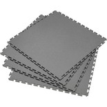 Clarke Interlocking Grey PVC Floor Tiles 4 Pack 450 x 450mm