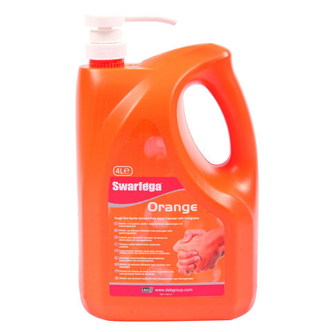 Image of DEB Swarfega Orange Pump Bottle 4 Litre