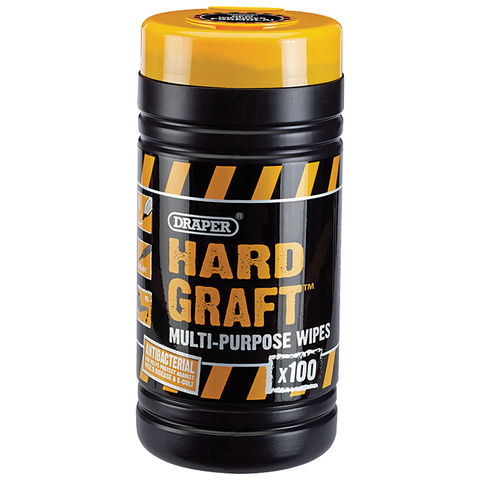 Image of Draper Draper 'Hard Graft' Wipes (Tub of 100)