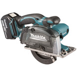 "Makita DCS552RTJ 18V LXT Li-Ion Cordless 136mm (5-3/8"") Metal Cutter with Dust Box with 2 x 5.0Ah batteries"