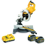 DeWalt DCS778T2-GB 54V XR FLEXVOLT 250mm Mitre Saw with 2x 6Ah Li-Ion Batteries
