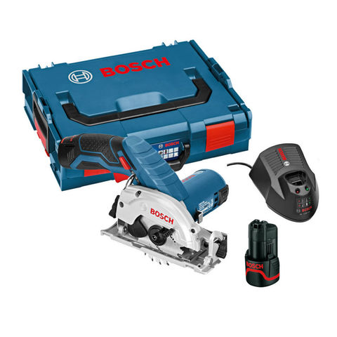 Image of Bosch Bosch GKS 10.8 V-Li 10.8V (2.0Ah) Lithium Ion Cordless Circular Saw Kit