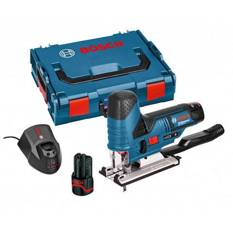 Image of Machine Mart Xtra Bosch GST 10.8 V-Li 10.8V Cordless Lithium Ion Professional Jigsaw Kit