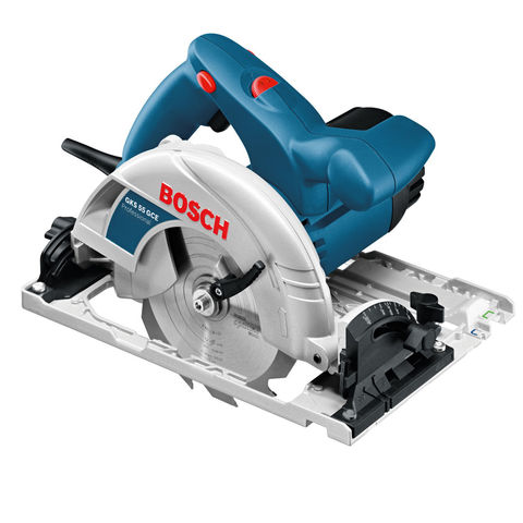 Image of Bosch Bosch GKS55+GCE 165mm Circular Saw (230V)