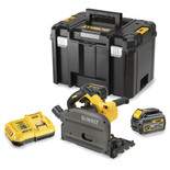 DeWalt DCS520T2-GB 54V XR FLEXVOLT 165mm Plunge Saw with 2x 6Ah Li-Ion Batteries
