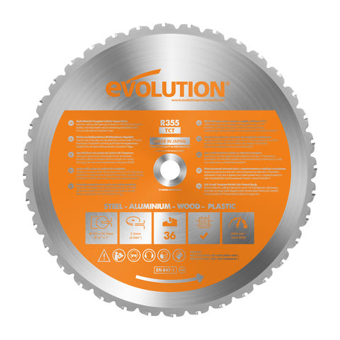 Image of Evolution Evolution RAGE 2 355mm Replacement Multi Purpose TCT Blade