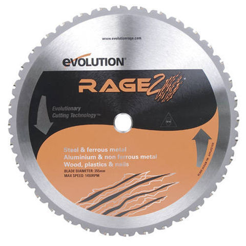 Image of Evolution Evolution RAGE2 355mm Replacement Multi Purpose TCT Blade