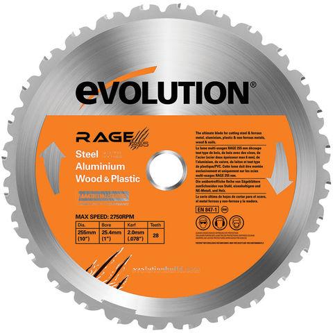 Image of Evolution Evolution RAGE 255mm Replacement Multi Purpose TCT Blade