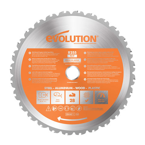 Image of Evolution Evolution RAGE 255mm Replacement Multi Purpose TCT Blade