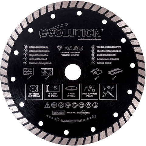 Image of Evolution Evolution Rage Multipurpose Diamond Saw Blade 185mm