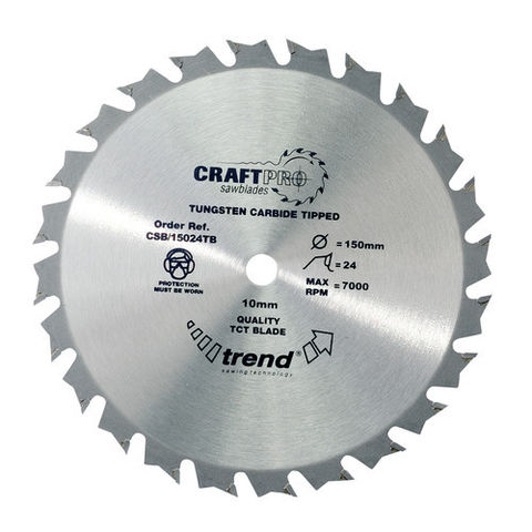 Image of Trend Trend CSB15024TB - 24T 'CraftPro' Saw Blade 150mm