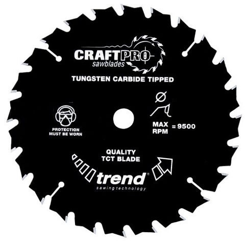 Image of Trend Trend CSB16524T - 24T 'CraftPro' Saw Blade 165mm