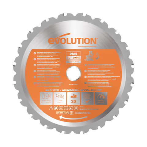 Image of Evolution Evolution R185TCT-20MS 185mm Multi-Material Blade for Mitre Saws