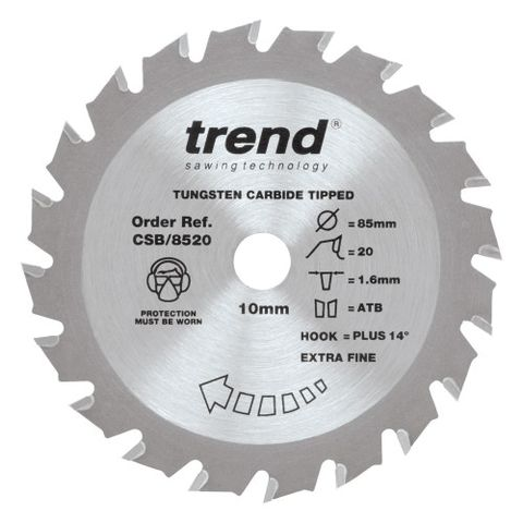 Image of Trend Trend 85mm 20 Tooth Craft Circular Saw Blade