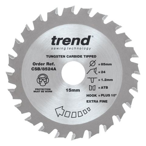 Image of Trend Trend 85mm 24T Craft Circular Saw Blade