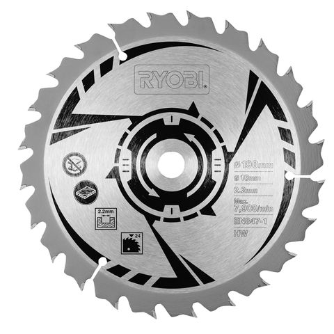 Ryobi csb190a1 190mm circular saw blade 18t machine mart machine ryobi csb190a1 190mm circular saw blade 18t greentooth Image collections