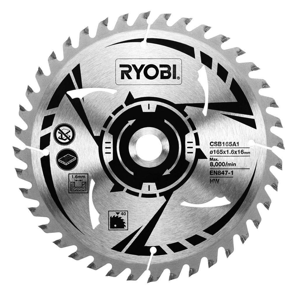 Ryobi circular saw blades machine mart ryobi csb165a1 165mm circular saw blade greentooth Image collections