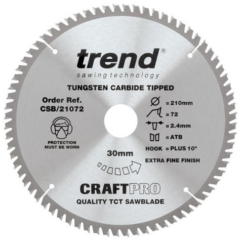 Image of Trend Trend 210mm 72T Craft Circular Saw Blade