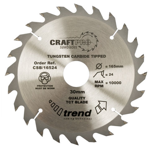 Image of Trend Trend CSB/13024 Craft Saw Blade 130mm X 24 Teeth X 20mm