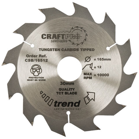 Image of Trend Trend CSB/15012 Craft Saw Blade 150mm X 12 Teeth X 20mm