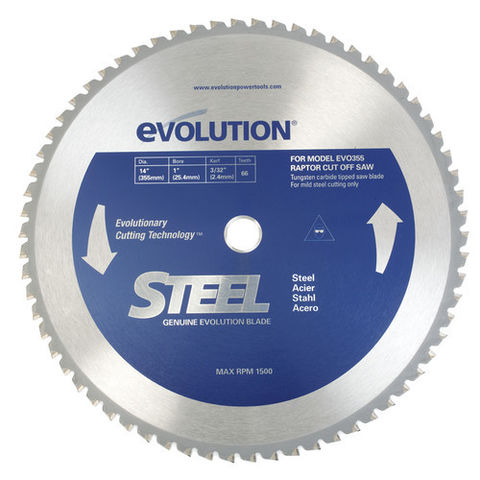Image of Evolution Evolution Raptor 355mm Steel Cutting Blade