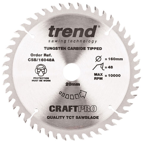 Image of Trend Trend CSB/16048A 160mm Circular Saw Blade