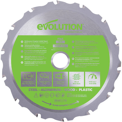 Image of Evolution Evolution Fury 165mm Replacement Multi-Purpose TCT Blade