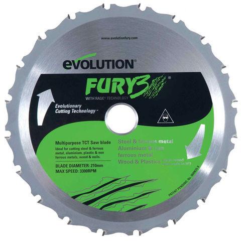 Image of Evolution Evolution FURY3 210mm Replacement Multipurpose TCT Blade