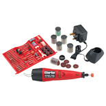 Clarke CCRT266 Cordless Rotary Tool with 262pc Accessory Kit