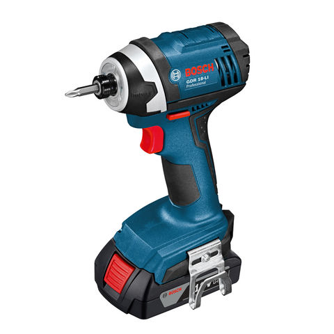 Image of Bosch Bosch GDR 18V-LI Cordless Impact Driver with 2x1.5Ah Batteries