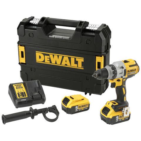 Image of DeWalt DeWalt DCD991P2-GB 18V XR Brushless 3 Speed Drill/Driver with 2x 5Ah Li-Ion Batteries