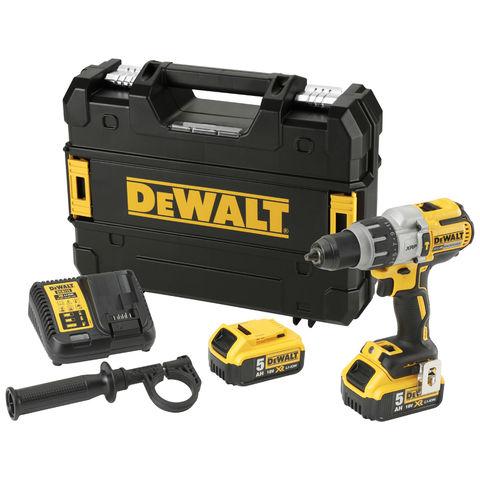 Image of DeWalt DeWalt DCD996P2-GB 18V XR Brushless 3 Speed Combi Drill with 2x 5Ah Li-Ion Batteries