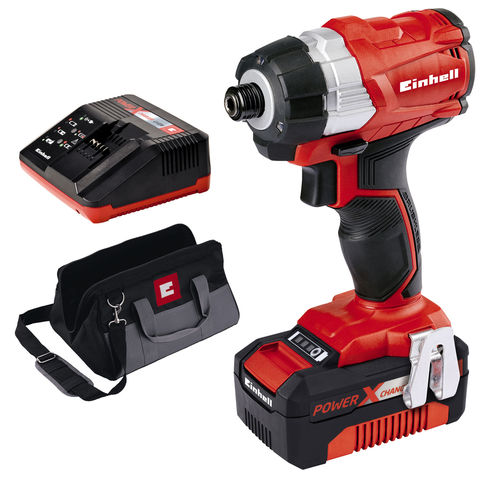einhell power x change te ci 18 bl 18v cordless impact driver with 1x4 0ah battery machine. Black Bedroom Furniture Sets. Home Design Ideas