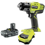 Ryobi One+ R18IW3 3 Speed Impact Wrench Kit With 1.3Ah Battery